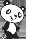 店頭のパンダ