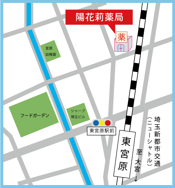 陽花莉薬局MAP