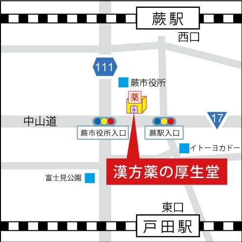 漢方薬の厚生堂MAP