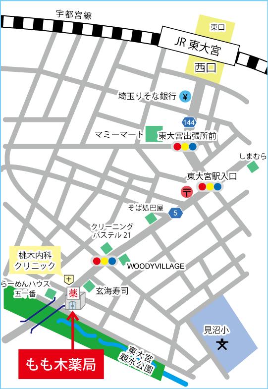 もも木薬局MAP